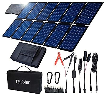 Amazon Com Tp Solar 100w Foldable Solar Panel Charger Kit For Portable Generator Power Station Smartph In 2020 Solar Panel Charger Portable Solar Panels Solar Panels