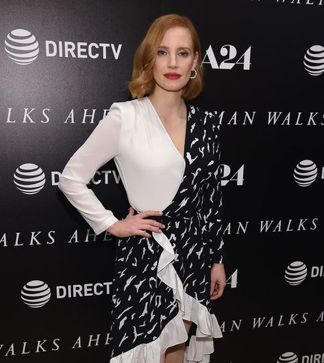 Jessica Chastain attends the 'Woman Walks Ahead' New York Screening at the Whitby Hotel.