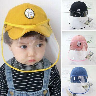 Ad Ebay Link Dual Use Detachable Baby Anti Droplet Face Shield Protective Cover Baseball Hat Mascaras Para Ninos Sombreros De Bebe Sombreros Y Gorras