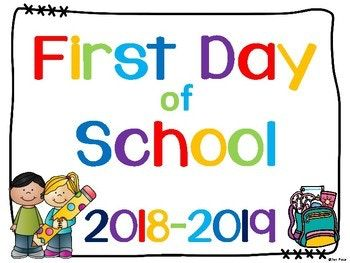 Canadian Friends Take A Photo Of Your Children On Their First Day Of School Holding These Great First D School Signs First Day Of School Preschool First Week