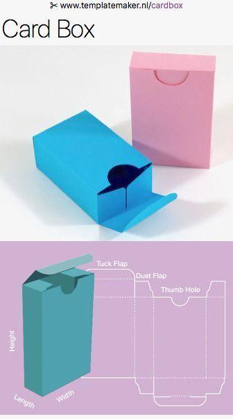 Free Custom Size Card Box Templates Templatemaker Nl Cardbox Paper Diy Paper Box Template Paper Box Diy Box Template