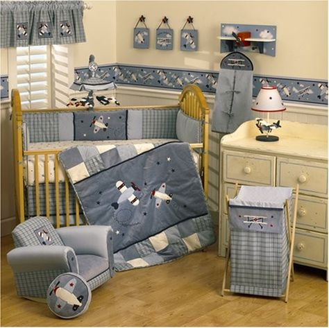 Baby Aviator Bedding. @Becky Eustis I can see your future baby having this!