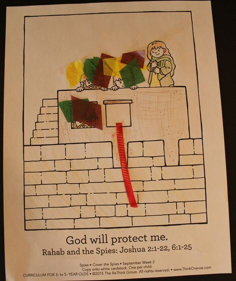 12+ Rahab and the spies coloring page info