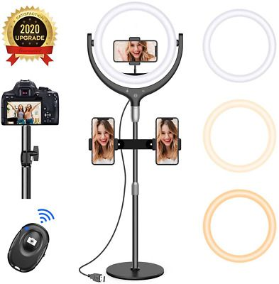 12 Selfie Ring Light With 15 8 Stand Led Ring Light 3 Modes 10 Brightness In 2020 Led Ring Light Led Ring Selfie Ring Light