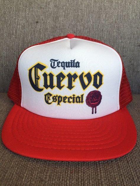 26e6a72c Vtg Cuervo Especial Tequila Mesh Snap Back Trucker Hat 1980's Red White  Jose   eBay