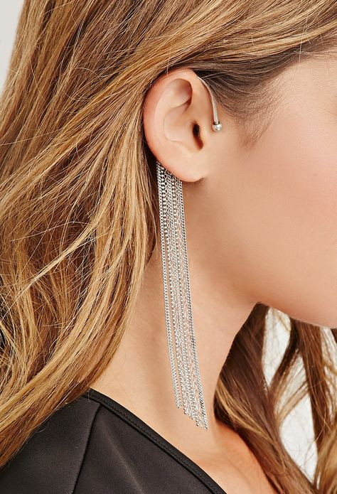Duster Chain Earcuff Forever 21 1000164008