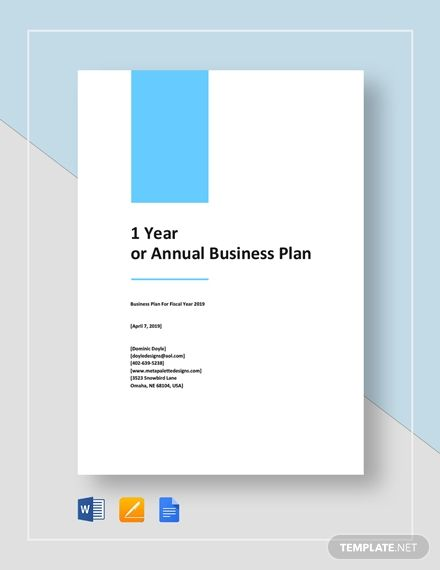 1 Year Or Annual Business Plan Template Free Pdf Google Docs Word Apple Pages Template Net Business Plan Template Free Business Plan Template Business Planning Business plan cover page template