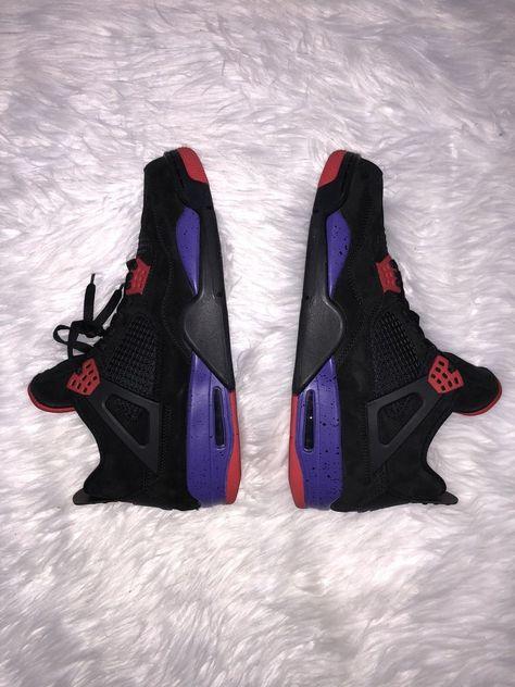 2be25fae6c063a Air Jordan Retro 4 Raptors Mens 13 Black Purple Crimson Basketball Jordan  (eBay Link)