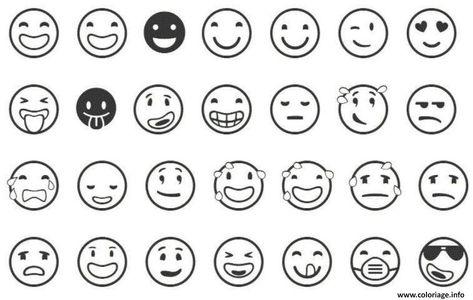 Coloriage Emoji List Dessin à Imprimer Coloriage Emoji