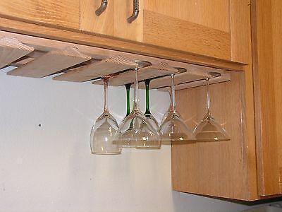 Wine Glass Racks Stemware Holder, Under Cabinet Wine Glass Holder Wood