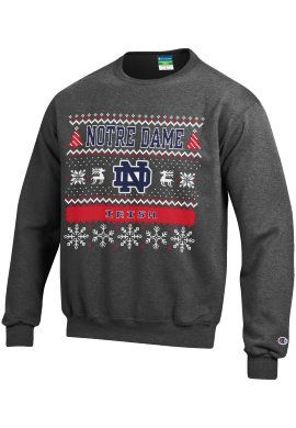 University of Notre Dame Fighting Irish Ugly Sweater Crewneck ...