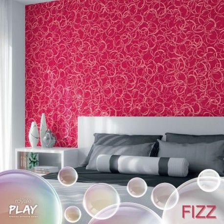 The Royale Play Fizz Effect Recreates A Thousand Bubbles On Your Walls The Child In You Will Lo Room Wall Colors Wall Colour Texture Asian Paints Wall Designs