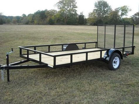 6 5 X 12 Ft Utility Trailer Plans Single Axle Utility Trailer Trailer Plans Welding