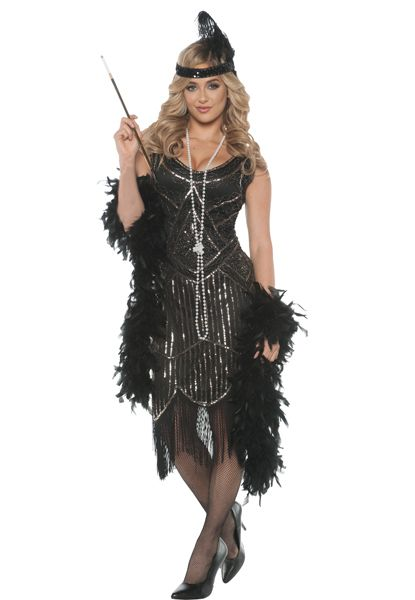 Womens Ladies 20s Gatsby Girl Flapper Fancy Dress Costume Hat Charleston Outfit