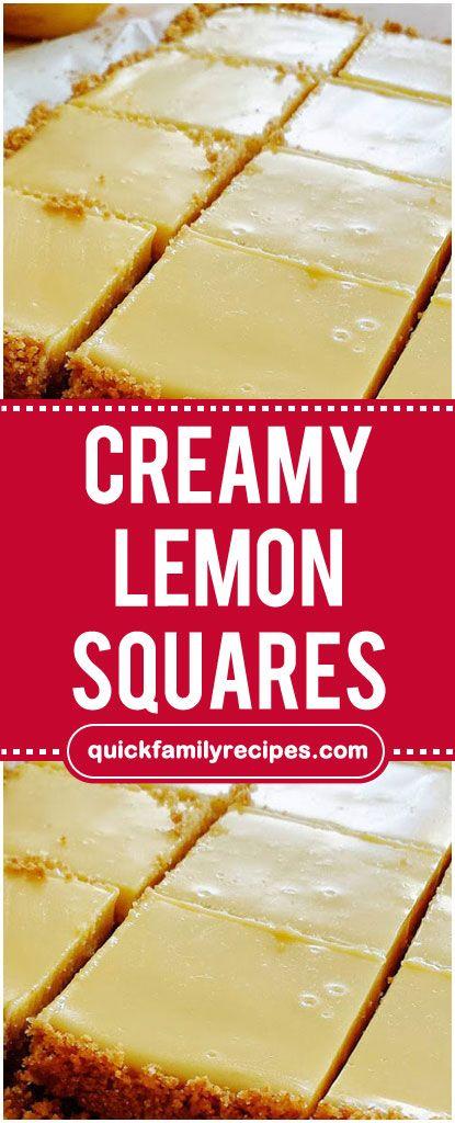 Creamy Lemon Squares Lemon Squares Recipe Milk Recipes Dessert Lemon Pie Recipe Condensed Milk