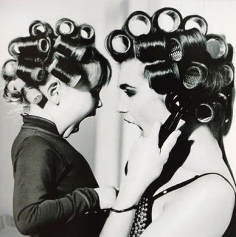 "Adorable picture to take this with your daughter and hang it in your bathroom.  Hang a dad/son photo of them ""shaving"" beside it. I wish I had a picture like this of me and my mom!"