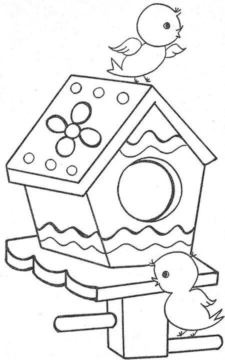 Casinha De Passarinho 2 Desenhos Infantis Para Pintar Casa De