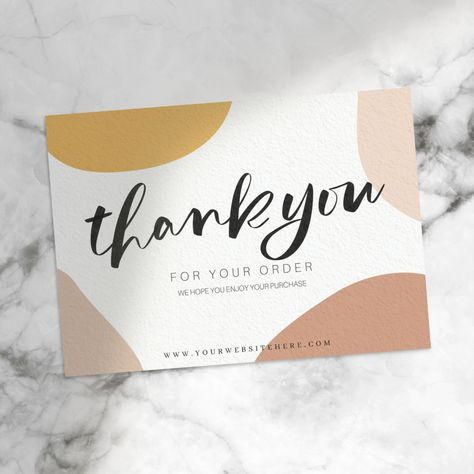 Thank You Card Template Small Business Cards, Business Thank You Cards, Printable Thank You Cards, Thank You Card Template, Thank You Card Design, Le Shop, Jewelry Packaging, Fashion Packaging, Thanks Card