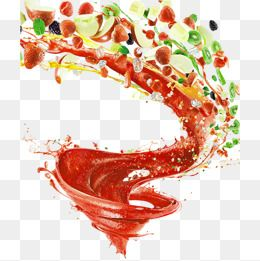 Fruit Juice Splashing Spiral Effects Fruit Clipart Juice Packaging Summer Fruit