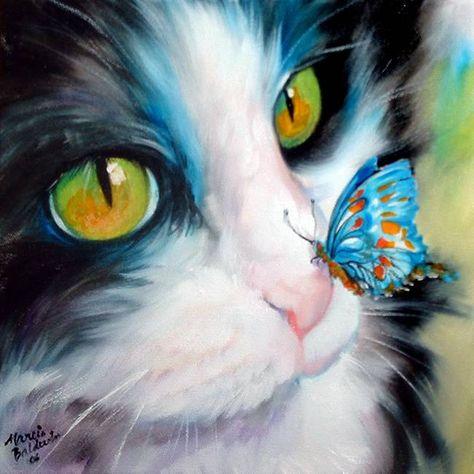 Butterfly Sweet Kitty by Marcia Baldwin