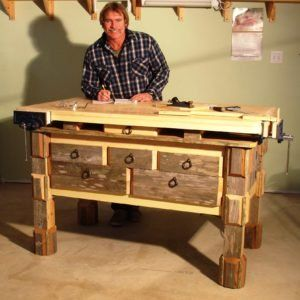 Saturday Morning Workshop Folding Mobile Workbench Woodworking