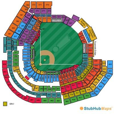 St Louis Cardinals Stadium Seating Chart Stl Cardinals