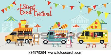 Food Truck Street Food Festival Clipart Food Truck Festival