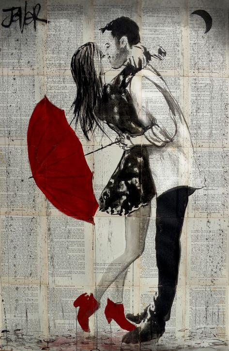 LOUI JOVER - NEVER MIND THE RAIN - Loui Jover #art #artist #artwork #artsandcrafts #artesanato #Louijover #ink