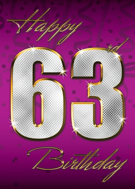 Bling Happy Birthday 63rd Card Ad Sponsored Happy Bling Birthday Card Happy 33 Birthday 33rd Birthday Happy 63 Birthday