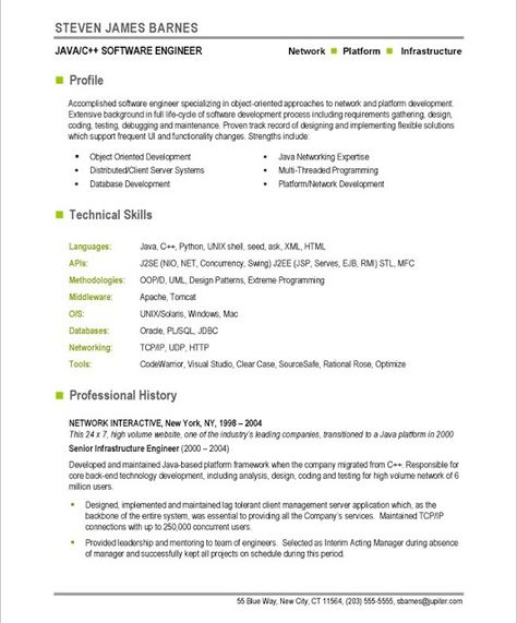 Software Development Programming Web Development Resume - technical skills list for resume