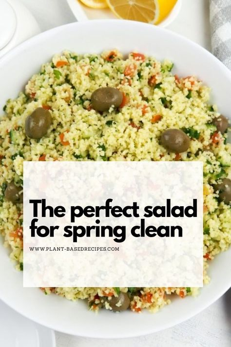 Easy tabbouleh salad -perfect side dish and perfect salad for spring clean. #saladrecipe #tabbouleh #easysalad