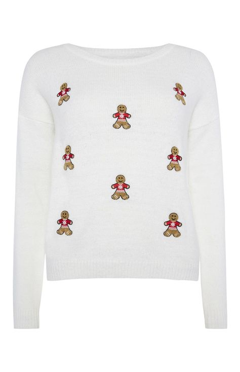 Embroidered Gingerbread Christmas Jumper