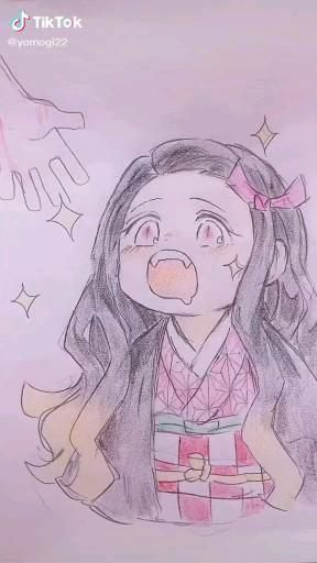 Cute Nezuko Artwork Artist: yomogi22 from TikTok