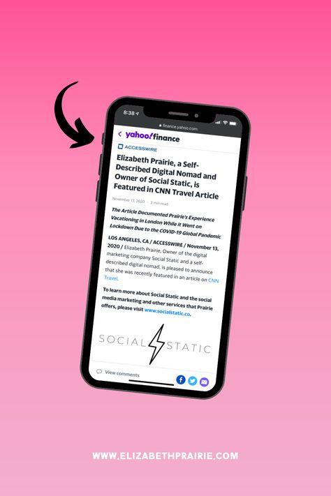 As Seen In Yahoo! Finance | Elizabeth Prairie