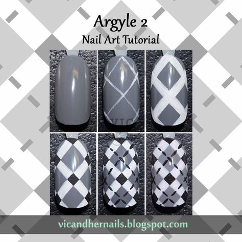Vic and Her Nails: Argyle Nail Art Tutorial Part 2