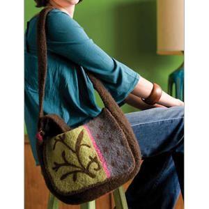 Ladies' Needle felted Messenger Bag Knitting Pattern | Felt