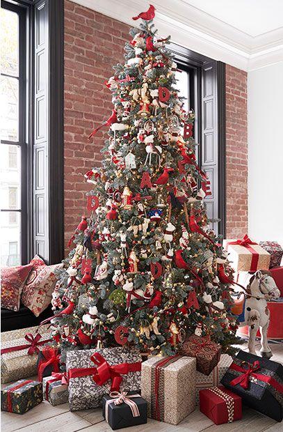 Christmas Classics Christmas Tree Classic Christmas Decorations Coastal Christmas Decor Red Christmas Decor