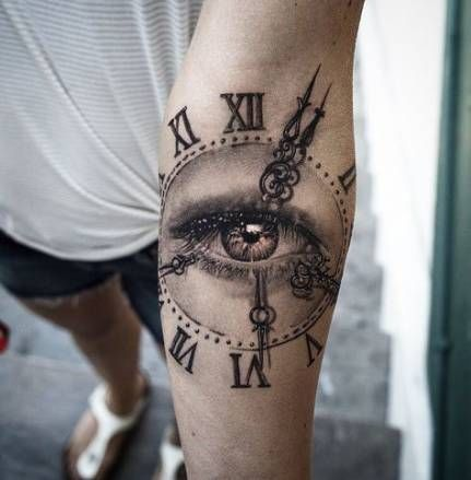 42 Ideas Eye Tattoo Design Clock Eye Tattoo Tattoos Sleeve Tattoos
