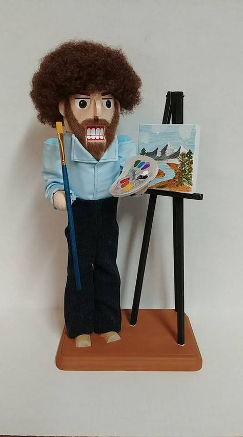 Bob Ross Nutcracker! My Blog about the Really Cool Nutcrackers I make. A small garage business that makes Custom Nutcrackers, Traditional Nutcrackers, Holiday Nutcrackers