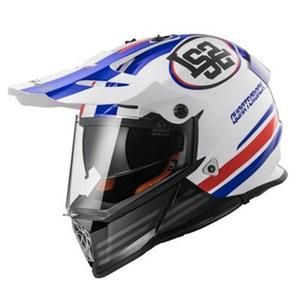Matt Black Titanium LS2 Casco Moto Mx436 Pioneer Element L