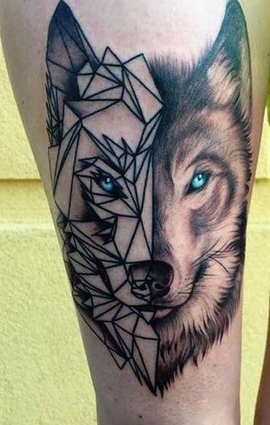 Image Result For Wolf Abstract Tattoo Lobo Tatuagem Tatuagens Tatuagem De Lobo Geometrico