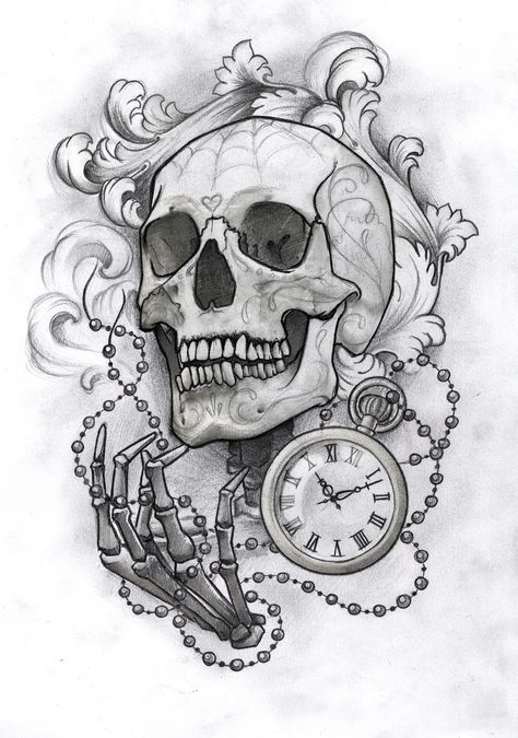 Sketches drawn in pencil - BeatTattoo.com