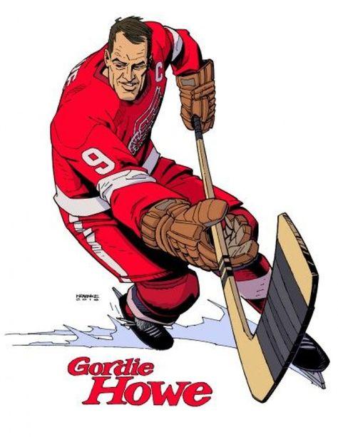 Gordie Howe by Andrew Krahnke #icehockey #ice #hockey #red