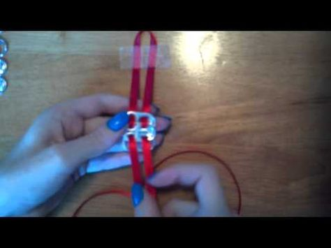 Finally !!! Perfectly clear instructions for making these braclets !! Kudos to this young lady for her video !!!