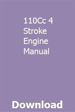110Cc 4 Stroke Engine Manual | promfutetes | Cummins diesel
