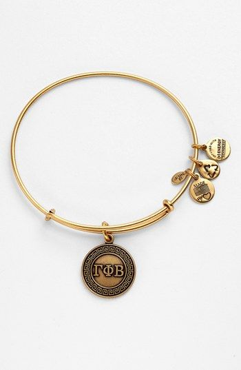 Alex and Ani 'Gamma Phi Beta' Expandable Wire Bangle | Nordstrom
