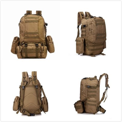 eab0cec82562 Amazon.com   Aokali Outdoor 50l Military Rucksack Large Tactical 3 Day  Assault Backpack Molle Bug Out Bag for Hiking Trekking Hunting Camping  Traveling ...
