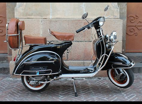 Built In Italy Vespa Scooter Pennant Flag