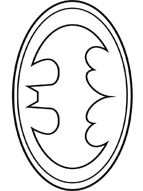 Batman Symbol Coloring Pages Batman Logo Coloring Page Free
