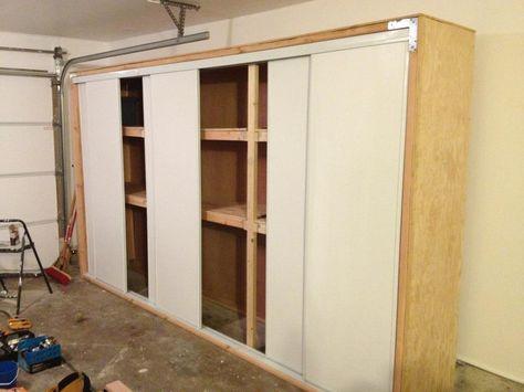 Diy Garage Storage With Sliding Doors Diy Garage Garage Storage
